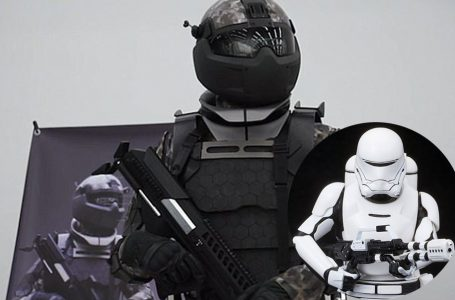Russian military uniform robotic technology, as in the movie Star Wars