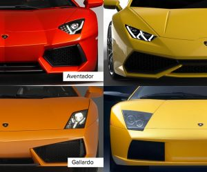 Lamborghini looks the same! How can you see what kind of model?